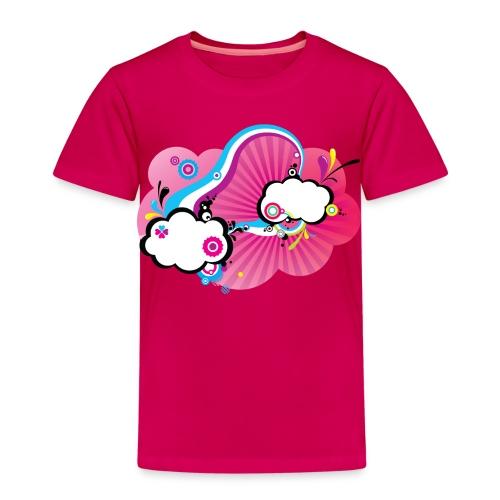 Tee-Shirt Enfant B&C rubis Pink Pop Clouds - T-shirt Premium Enfant