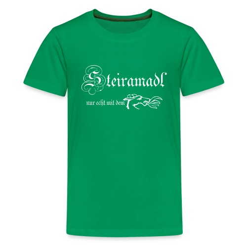 Teenager - Steirermadl weiß - Teenager Premium T-Shirt