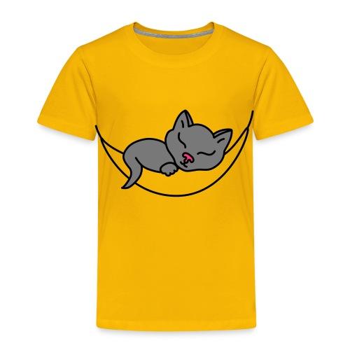 Schlafende Katze - Kinder T-Shirt - Kinder Premium T-Shirt