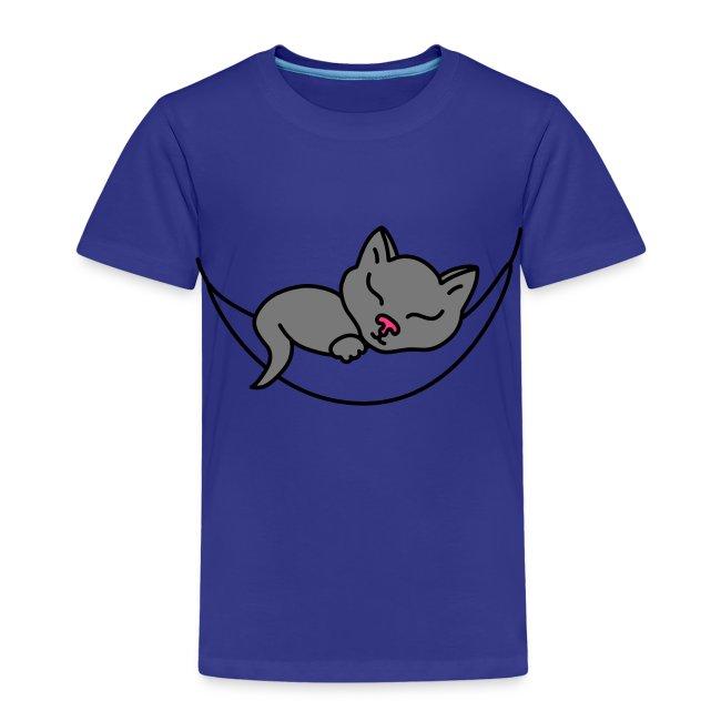 Schlafende Katze - Kinder T-Shirt
