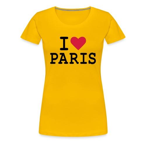 T-Shirt I Love Paris Femme B&C - T-shirt Premium Femme