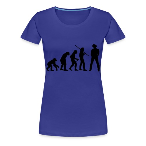 Evolution Cowboy - Frauen Premium T-Shirt