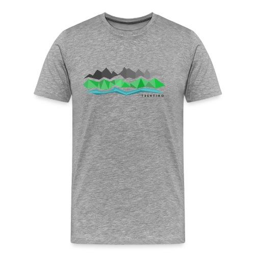 Trentino Montagne Valli e Fiumi - Maglietta Premium da uomo