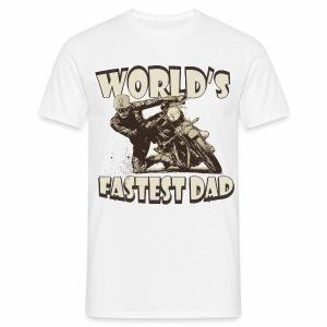 World's Fastest Dad - Men's T-Shirt
