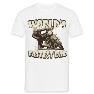 World's Fastest Dad - Men's T-Shirt