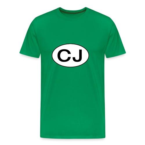 Jeep CJ Oval - Premium T-skjorte for menn