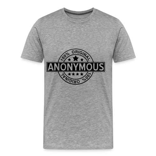 Anonymous Tee Shirt Gris. - T-shirt Premium Homme