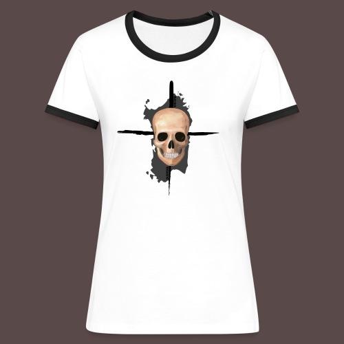 Sardegna, Pirate skull (donna) - Maglietta Contrast da donna