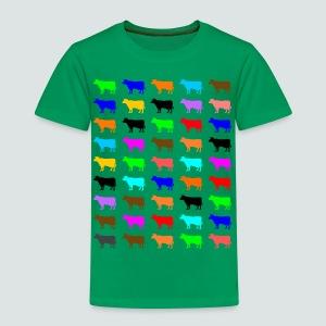 Multi Color Kühe, T-Shirt Kinder - Kinder Premium T-Shirt