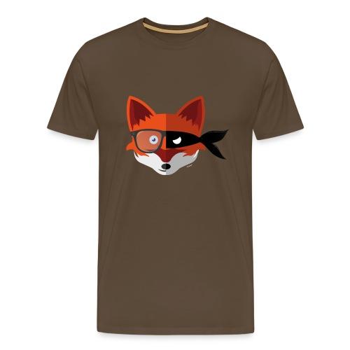 Hipster/Villain Fox - Mannen Premium T-shirt