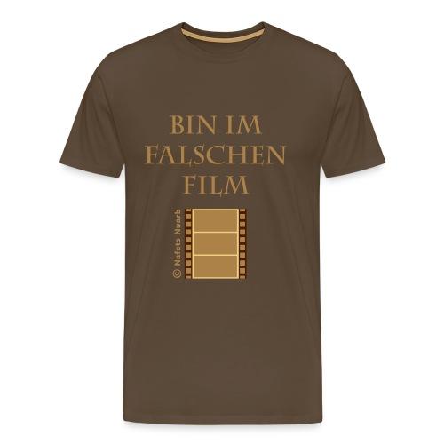 im falschen Film T-Shirt braun - Männer Premium T-Shirt