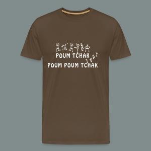 T-shirt Premium Homme - Batteur, rock, batterie, drums, drummer, musique, musicien, groupe, note, music