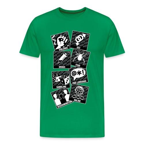 Homme - Avertissement - T-shirt Premium Homme