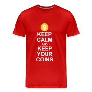 T-Shirts ~ Men's Premium T-Shirt ~ Keep Calm and Keep Your Bitcoins