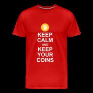 T-Shirts ~ Men's Premium T-Shirt ~ Keep Calm and Keep Your Bitcoins