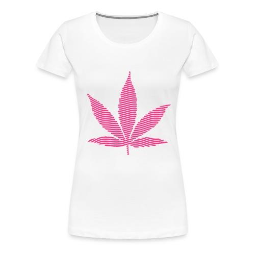 Stoney Pink leaf T - WHITE - Women's Premium T-Shirt