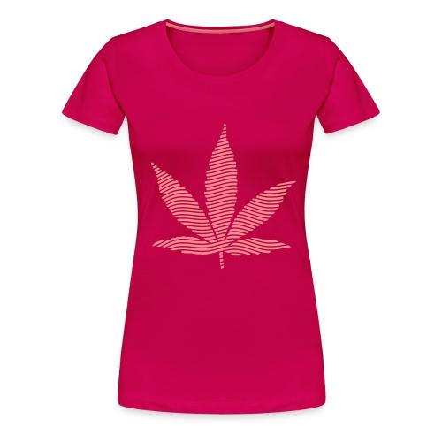 Stoney Pink Leaf T - PINK - Women's Premium T-Shirt