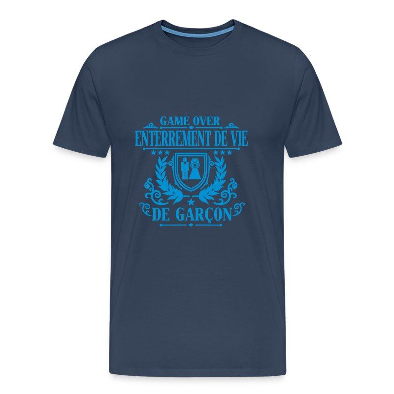 tee shirt enterrement de vie de gar on game over spreadshirt. Black Bedroom Furniture Sets. Home Design Ideas