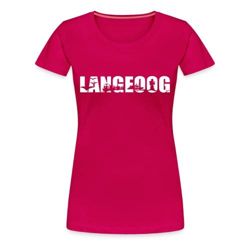 Langeoog Shirt - Frauen Premium T-Shirt