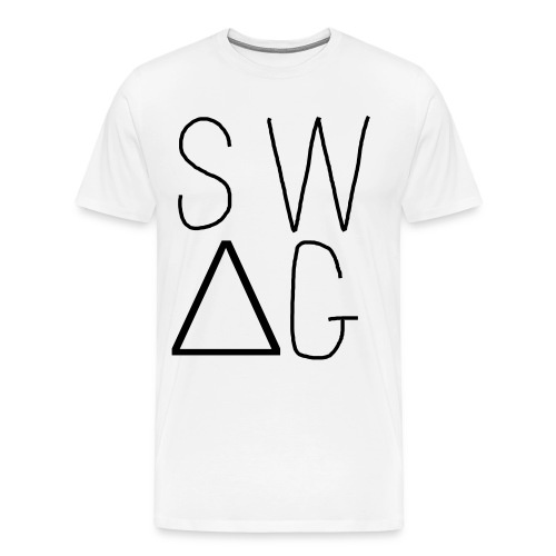 Swag Tee White - Men's Premium T-Shirt