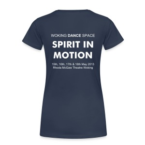 Spirit in Motion ladies T-Shirt with custom back print - Women's Premium T-Shirt