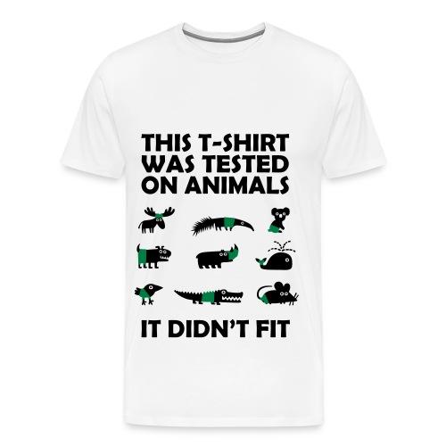 Miehen t-paita - Miesten premium t-paita