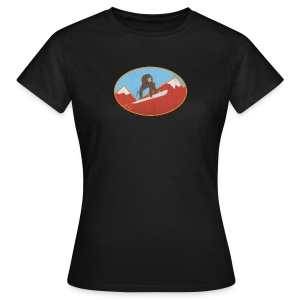 Snowboarding Monkey - Women's T-Shirt