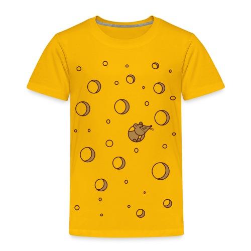 Maus im Käse - Dreikäsehoch - Kinder Premium T-Shirt