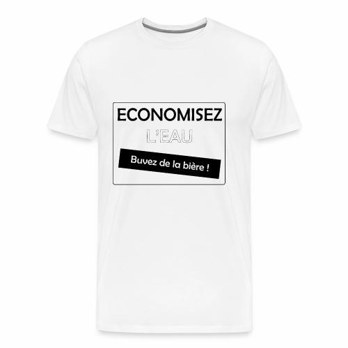 Bière contre l'eau - T-shirt Premium Homme