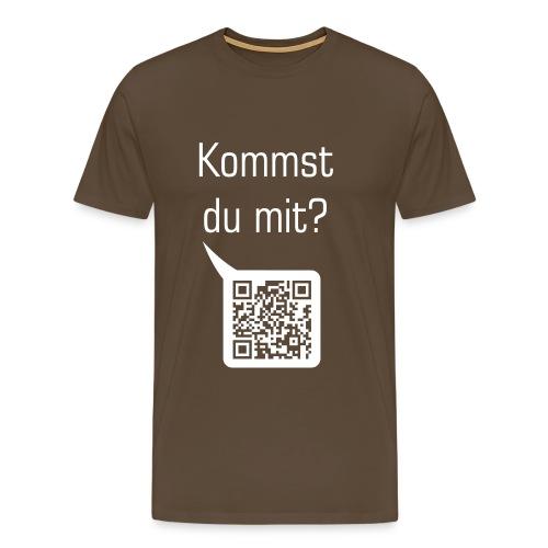 Kommst du mit? eine rauchen - Männer Premium T-Shirt