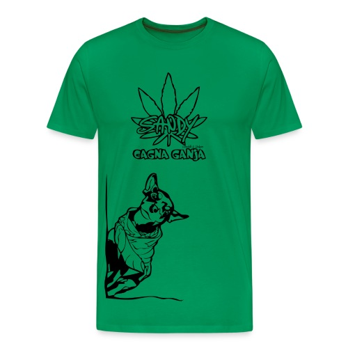 T-Shirt Sandy Cagna Ganja - Maglietta Premium da uomo