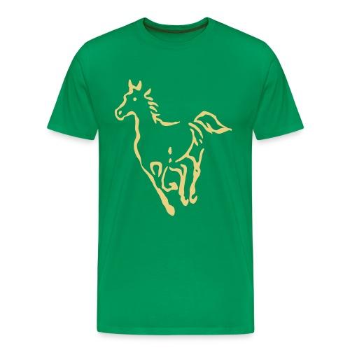 Pferde Umriss T-Shirt - Männer Premium T-Shirt