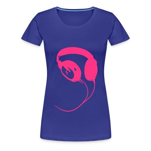 Kopfhörer Girlieshirt - Frauen Premium T-Shirt