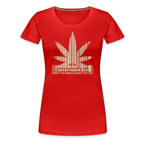 SeedFinder.eu GirlieShirt (Glow in the Dark) - Frauen Premium T-Shirt