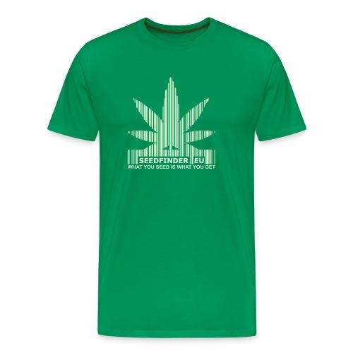 SeedFinder.eu TShirt (Glow in the Dark) - Männer Premium T-Shirt