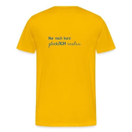 Männer T-Shirt Motto 2013 gelb - Männer Premium T-Shirt