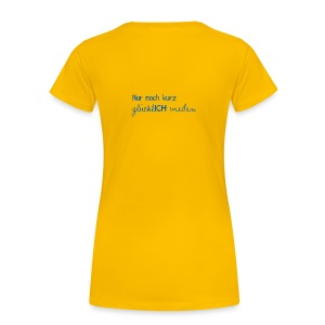 Damen T-Shirt Motto 2013 gelb - Frauen Premium T-Shirt