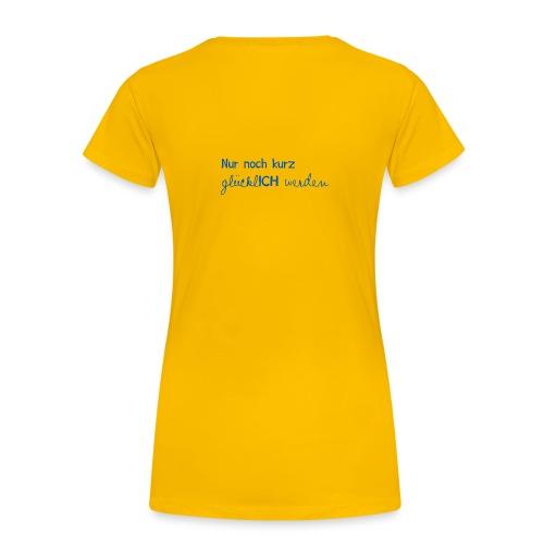 Damen T-Shirt Motto 2013 gelb - Frauen Premium T-Shirt