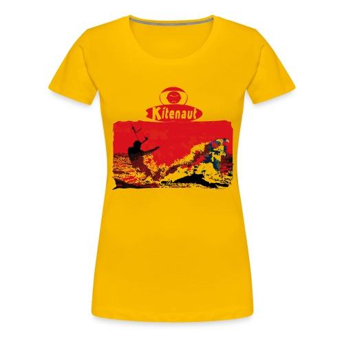 T-shirt vague rouge - T-shirt Premium Femme