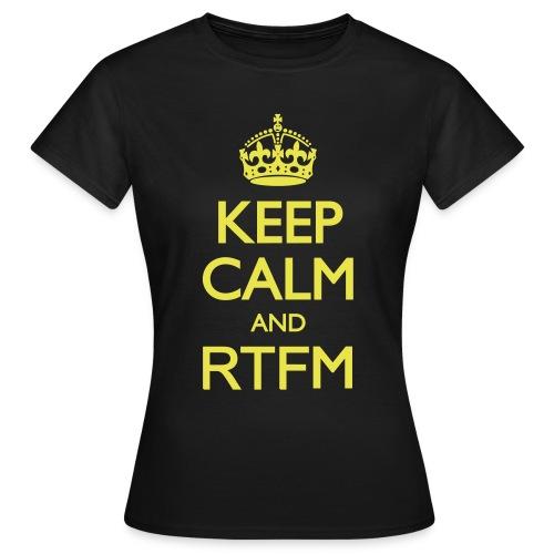 Tee-shirt Femme Keep calm and RTFM - T-shirt Femme