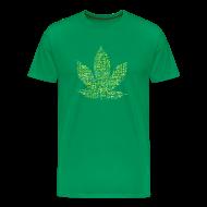 T-Shirts ~ Männer Premium T-Shirt ~ Cannabis-Sorten-Namen T-Shirt (light green)