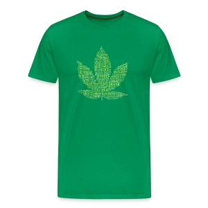 Cannabis-Sorten-Namen T-Shirt (light green) - Männer Premium T-Shirt