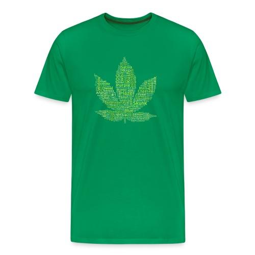 Cannabis-Sorten-Namen T-Shirt (light green) - Männer Premium T-Shirt