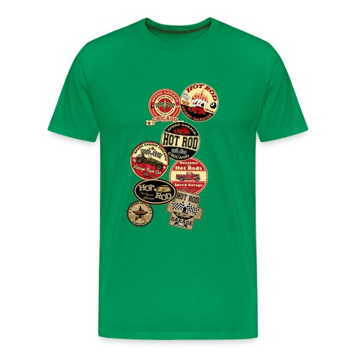 Hot rods logos - T-shirt Premium Homme