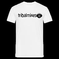 T-Shirts ~ Men's T-Shirt ~ Classic Long/Across Tribalmixes + Logo (design 2, Black)