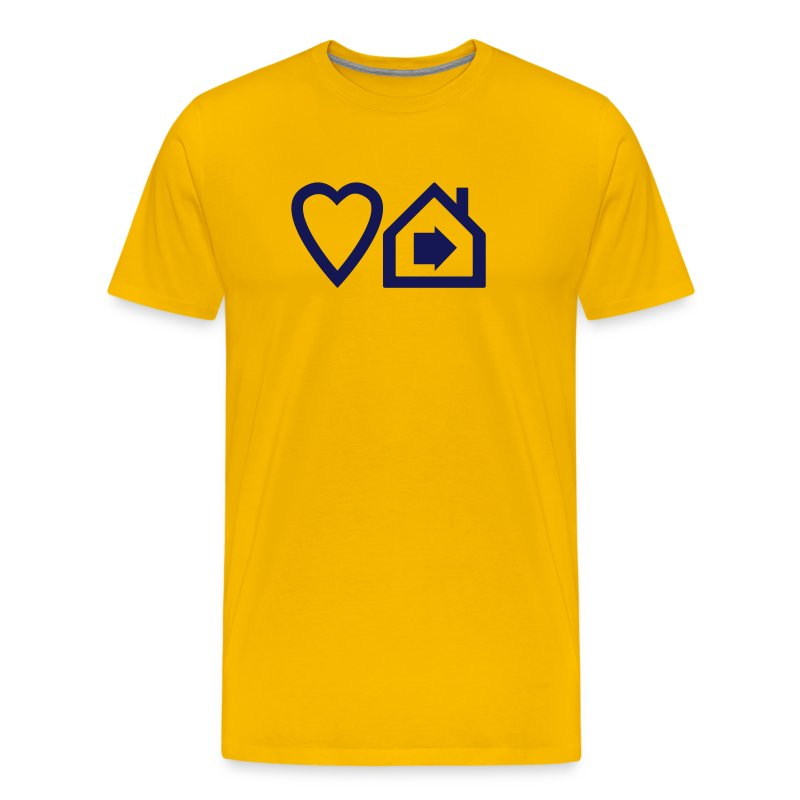 Love Progressive House (Symbolic, Navy on Yellow, Ver.2) - Men's Premium T-Shirt