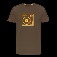 T-Shirts ~ Men's Premium T-Shirt ~ I DJ series SPIN ON logo 2-color Flex
