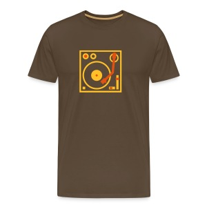 I DJ series SPIN ON logo 2-color Flex - Men's Premium T-Shirt