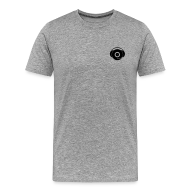 T-Shirts ~ Men's Premium T-Shirt ~ Small Logo Only, Classic design (black on grey)