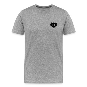 Small Logo Only, Classic design (black on grey) - Men's Premium T-Shirt